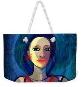 066 Woman With Red Necklace Av Weekender Tote Bag