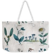 Lithography Of Common Flowers  Weekender Tote Bag