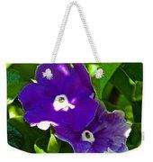 Purple Flowers In Pilgrim Place In Claremont-california Weekender Tote Bag