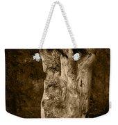 Wooden Face Weekender Tote Bag