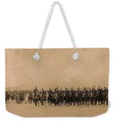 180 Degrees Panorama Troops Passing In Review No Date Or Locale Restored Color Added 2008 Weekender Tote Bag