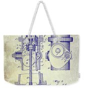 1903 Fire Hydrant Patent Weekender Tote Bag