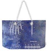 1911 Mechanical Skeleton Patent Blue Weekender Tote Bag