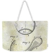 1924 Baseball Patent Weekender Tote Bag