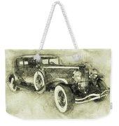 1928 Duesenberg Model J 3 - Automotive Art - Car Posters Weekender Tote Bag