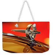 1947 Buick Roadmaster Hood Ornament Weekender Tote Bag