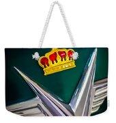 1954 Chrysler Imperial Sedan Hood Ornament Weekender Tote Bag