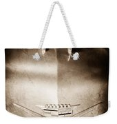 1956 Cadillac Eldorado Biarritz Convertible Hood Ornament - Emblem Weekender Tote Bag