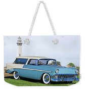 1956 Chevrolet Bel Air Nomad Wagon Weekender Tote Bag