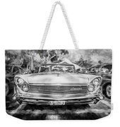 1959 Lincoln Continental Town Car Mk Iv Painted Bw Weekender Tote Bag
