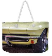 1965 Yellow Sting Ray Front Bumper Weekender Tote Bag