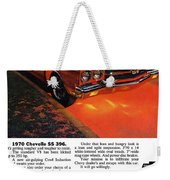1970 Chevrolet Chevelle Ss 396 Weekender Tote Bag