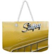 1972 Chevrolet Corvette Stingray Emblem Weekender Tote Bag