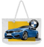 2016  B M W  M 3  Sedan With 3 D Badge  Weekender Tote Bag