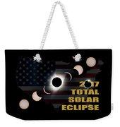 2017 Total Solar Eclipse Across America Weekender Tote Bag