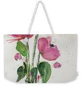 3 Pink Flowers Weekender Tote Bag