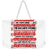 7 Principals Of For Happy Life See On Pillows Curtains Duvet Covers Tote Bags Phone Cases Posters Ca Weekender Tote Bag