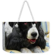 #940 D1031 Farmer Browns Springer Spaniel Weekender Tote Bag