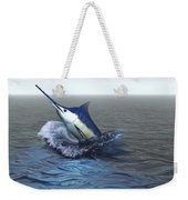 A Blue Marlin Bursts From The Ocean Weekender Tote Bag