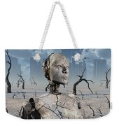 A Broken Down Petrified Android Robot Weekender Tote Bag