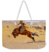 A Cold Morning On The Range Weekender Tote Bag by Frederic Remington