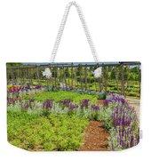 A Corridor Of Purple Sage Flowers And Stachys Lanata Sunlit Weekender Tote Bag