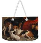 A Couple Of Foxhounds With A Terrier - The Property Of Lord Henry Bentinck  Weekender Tote Bag