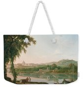 A Distant View Of Rome Across The Tiber Weekender Tote Bag