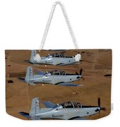A Formation Of Iraqi Air Force T-6 Weekender Tote Bag