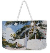 A Garden In Nassau Weekender Tote Bag by Winslow Homer