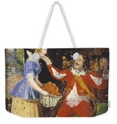 A Maid Offering A Basket Of Fruit To A Cavalier Weekender Tote Bag