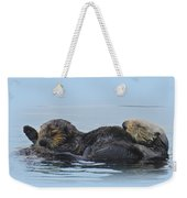 A Mama Sea Otter And Her Babe Weekender Tote Bag
