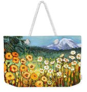 A Mountain View Weekender Tote Bag by Jennifer Lommers