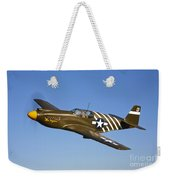 A P-51a Mustang In Flight Weekender Tote Bag