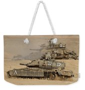 A Pair Of Israel Defense Force Merkava Weekender Tote Bag