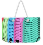 A Rainbow Of Chairs Weekender Tote Bag