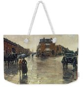 A Rainy Day In Boston Weekender Tote Bag