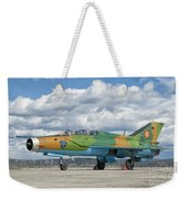 A Romanian Air Force Mig-21b Airplane Weekender Tote Bag