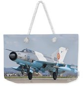A Romanian Air Force Mig-21c Taking Weekender Tote Bag