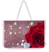 A Rose For Valentine's Day - 2 Weekender Tote Bag