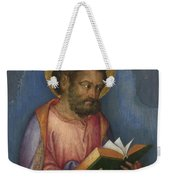A Saint With A Book Weekender Tote Bag