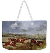 A Steeplechase - Near The Finish Henry Thomas Alken Weekender Tote Bag
