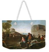 A Stickball Game Weekender Tote Bag