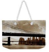 A Tale Of Two Bridges Weekender Tote Bag by Joann Vitali