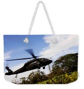 A U.s. Army Uh-60 Black Hawk Helicopter Weekender Tote Bag