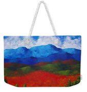A View Of The Blue Mountains Of The Adirondacks Weekender Tote Bag