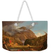 A View Of The Mountain Pass Called The Notch Of The White Mountains, Crawford Notch Weekender Tote Bag