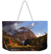 A View Of The Mountain Pass Called The Notch Of The White Mountains Weekender Tote Bag