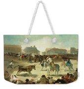 A Village Bullfight Weekender Tote Bag