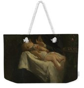 A Young Woman Nursing A Baby Weekender Tote Bag